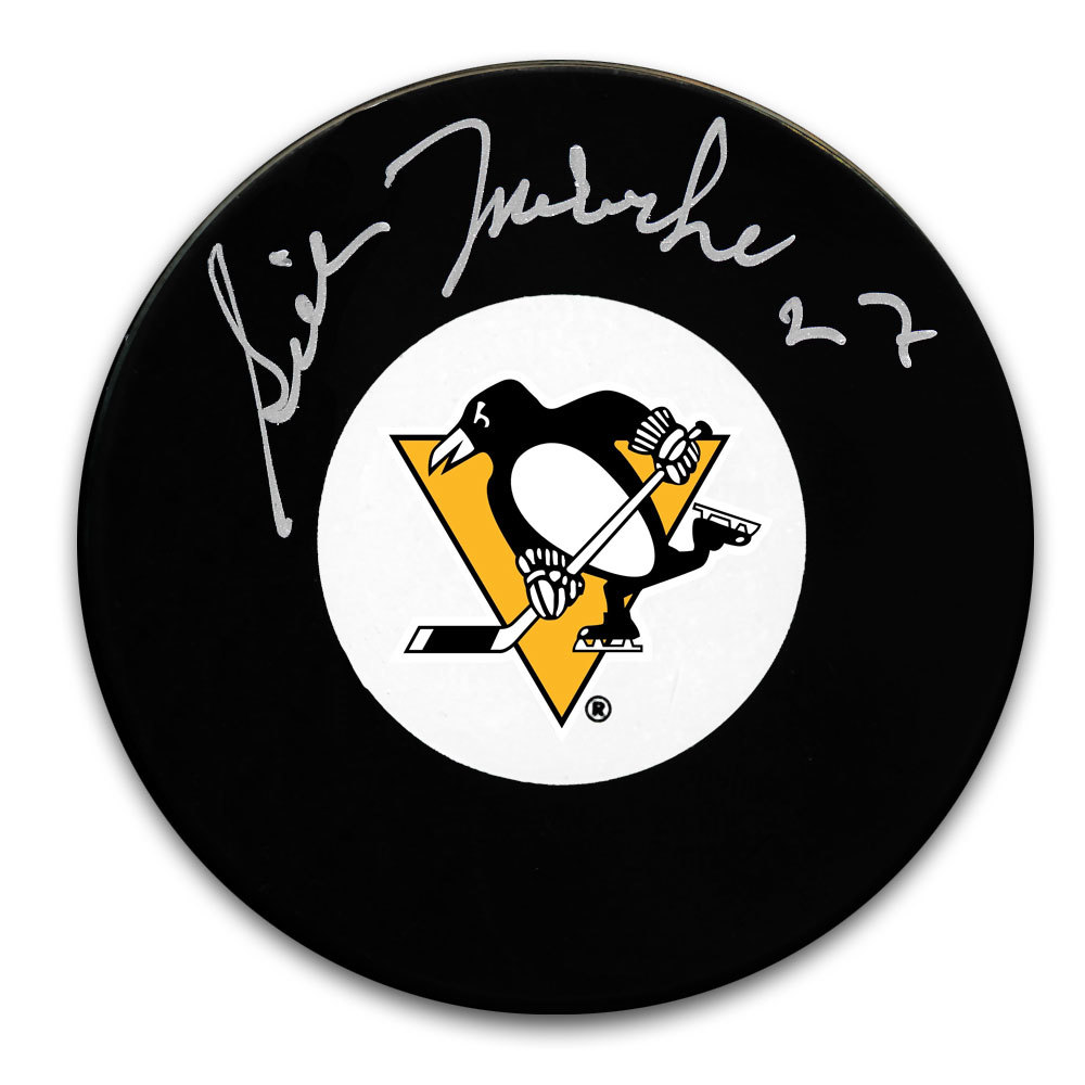 Gilles Meloche Pittsburgh Penguins Autographed Puck