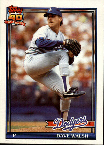 Photo of 1991 Topps #367 Dave Walsh RC