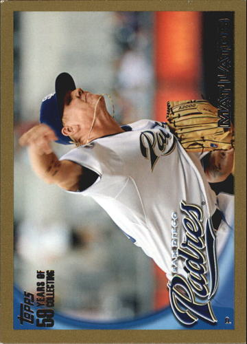 Photo of 2010 Topps Gold Border #191 Mat Latos