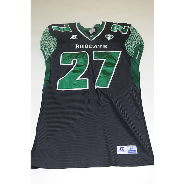 Photo of # 27 - Official OHIO BOBCATS Game Worn Football Jersey (2011) - SIZE MEDIUM
