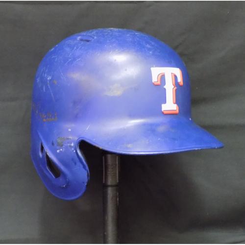 Nomar Mazara 2017 Game-Used Helmet