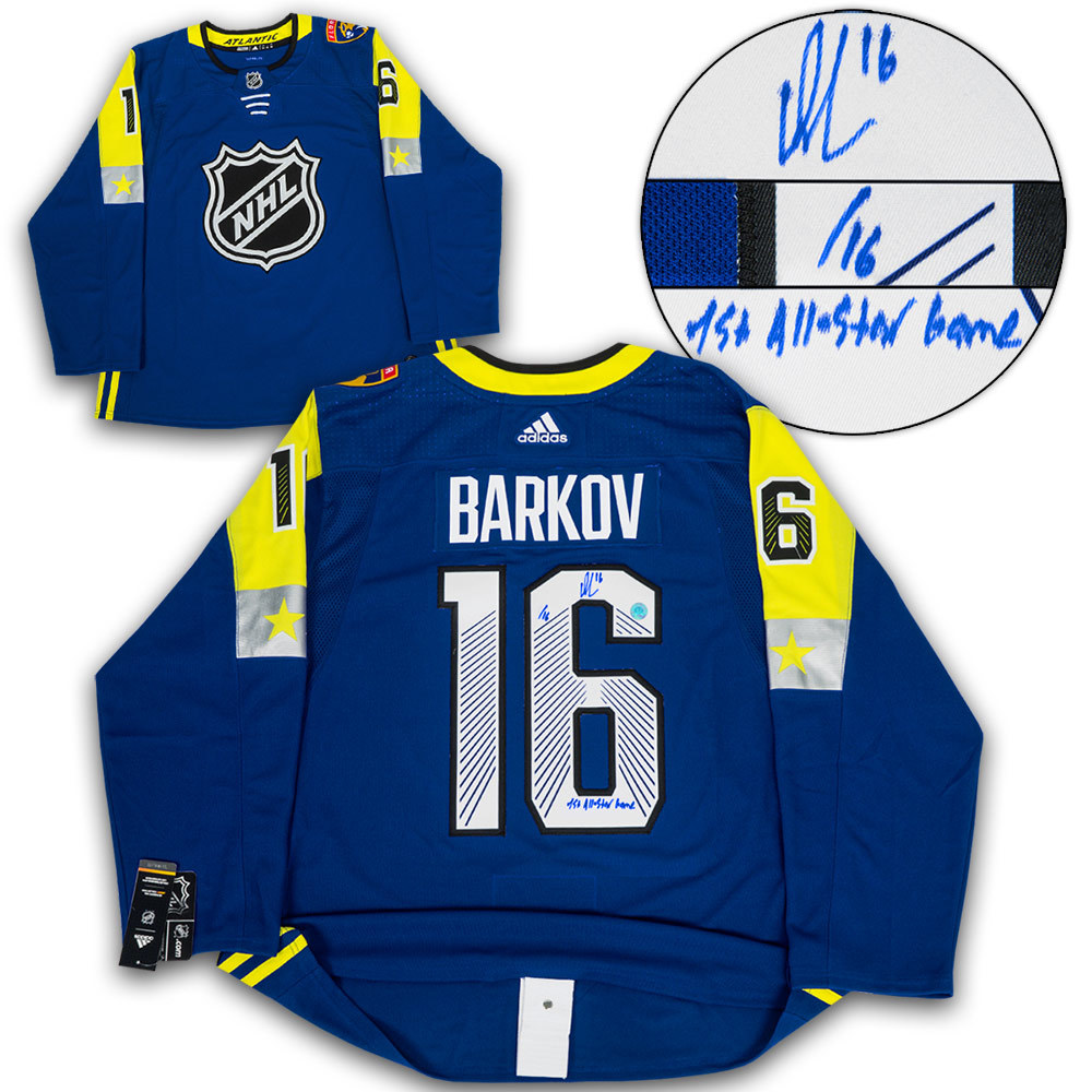 Aleksander Barkov 2018 All Star Signed with 1st ASG Adidas Authentic Jersey /16 *Florida Panthers*