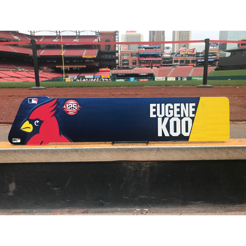 Photo of Cardinals Authentics: Eugene KooTeam-Issued Locker Tag