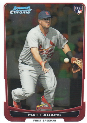 Photo of 2012 Bowman Chrome #215 Matt Adams Rookie Card