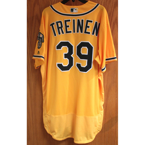 Photo of Blake Treinen 2017 Game-Used Jersey - Win #3