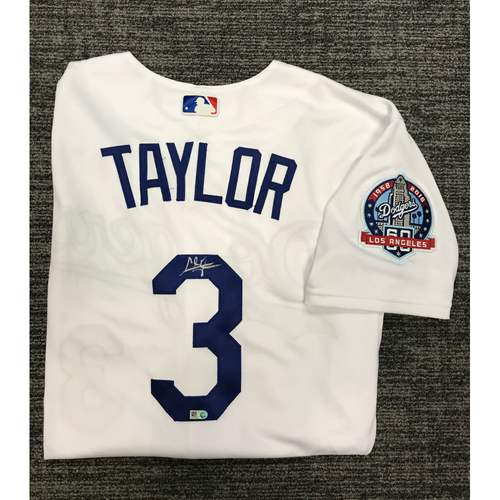 Photo of Los Angeles Dodgers Foundation Online Auction: Chris Taylor Authentic Autographed Los Angeles Dodgers Jersey