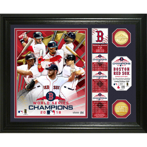 "Photo of Boston Red Sox 2018 World Series Champions ""Banner"" Bronze Coin Photo Mint"