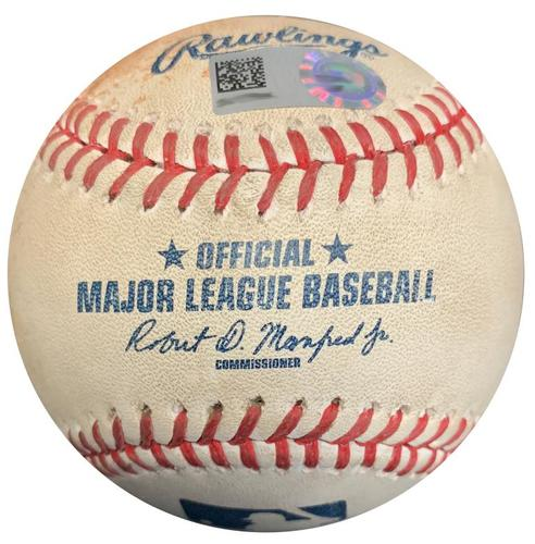 Photo of Game-Used Baseball from Pirates vs. Mariners on 7/27/16 - Jordy Mercer RBI Double