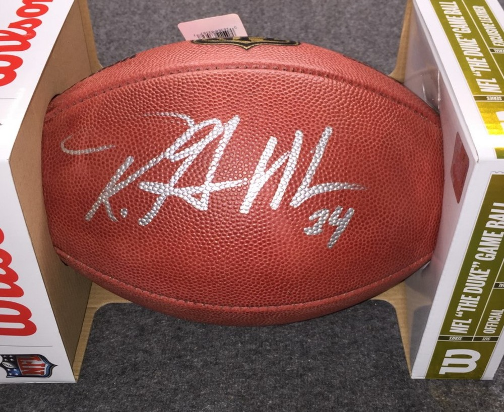 NFL - Vikings Robert Griffith signed authentic football