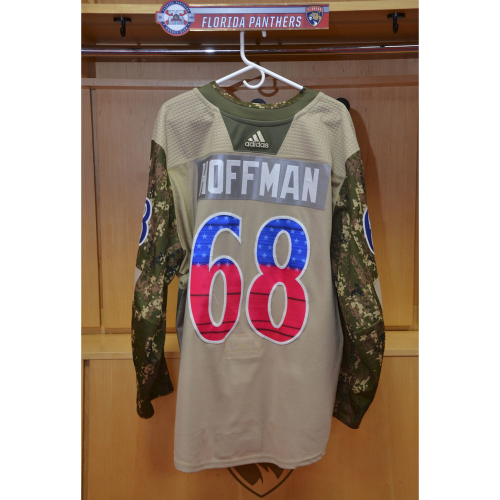 reputable site 1f63f 6fd21 68 Mike Hoffman Warm-Up Worn and Autographed Military Jersey ...