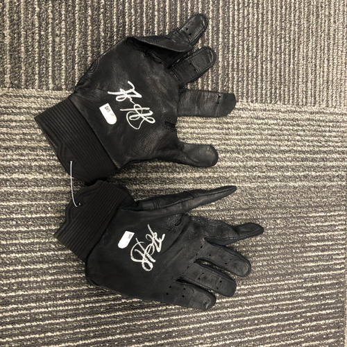 Photo of 2018 Team Issued Autographed Batting Gloves - #5 Nick Hundley