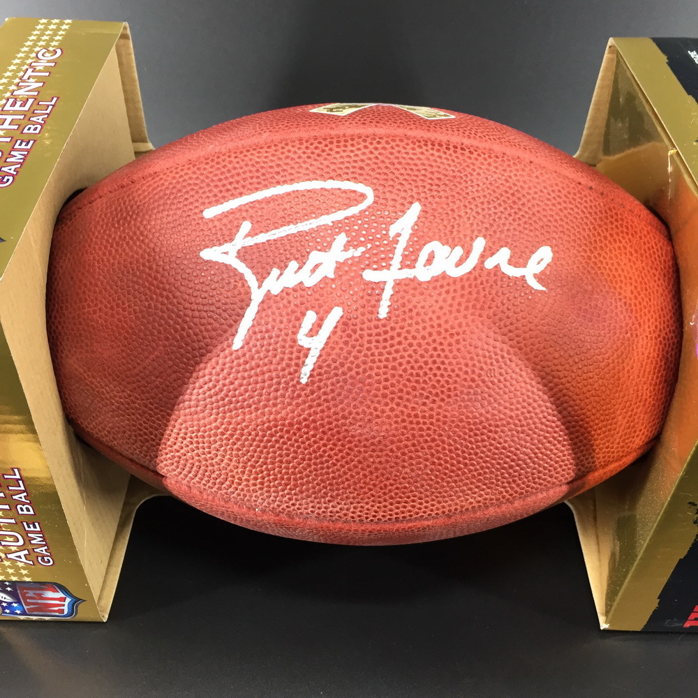 PCC - Packers Brett Favre Signed Authentic STS Footballs