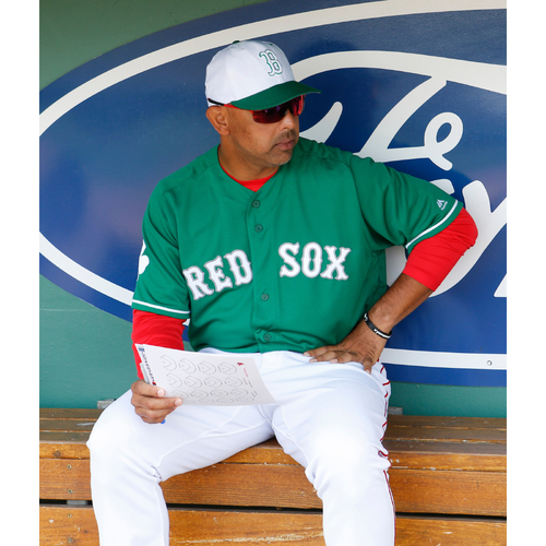 Photo of Red Sox Foundation St. Patrick's Day - Alex Cora Game-Used and Autographed Jersey
