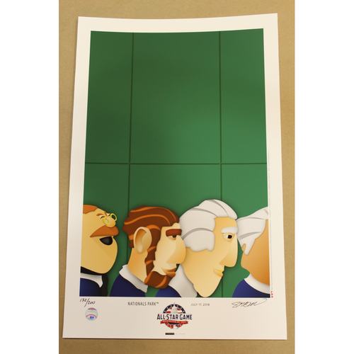 Photo of All Star Game 2018 Edition Minimalist Washington Nationals Park Art Poster 172/200 by S. Preston