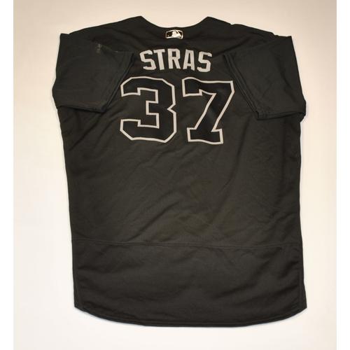 "Photo of Stephen ""STRAS"" Strasburg Washington Nationals Game-Used 2019 Players' Weekend Jersey"