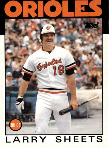 Photo of 1986 Topps #147 Larry Sheets