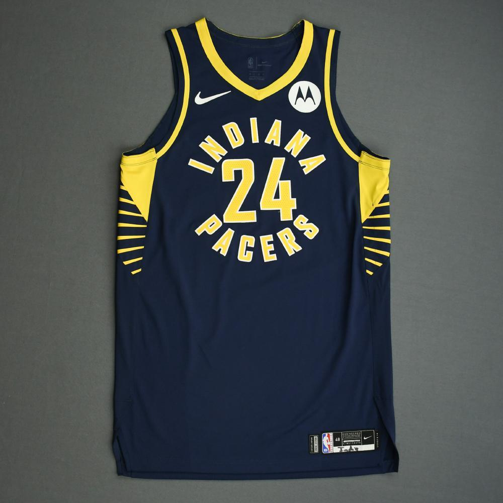 Alize Johnson - Indiana Pacers - Game-Worn Icon Edition Jersey - NBA India Games - 2019-20 NBA Season