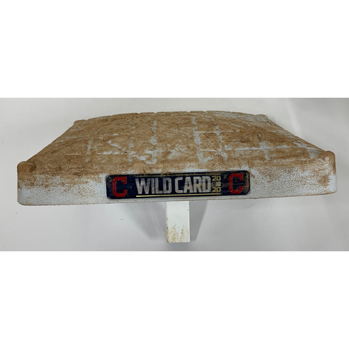 Photo of Game-Used 2020 AL Wild Card Game 2 Base - 9/30/2020 - Yankees at Indians - 2nd Base
