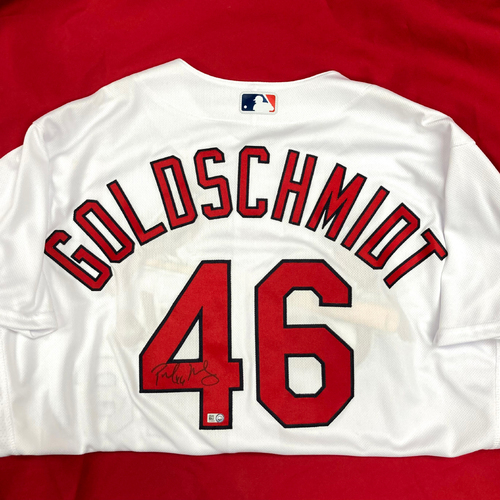 Photo of Paul Goldschmidt Autographed Replica Home Jersey (Size 50)
