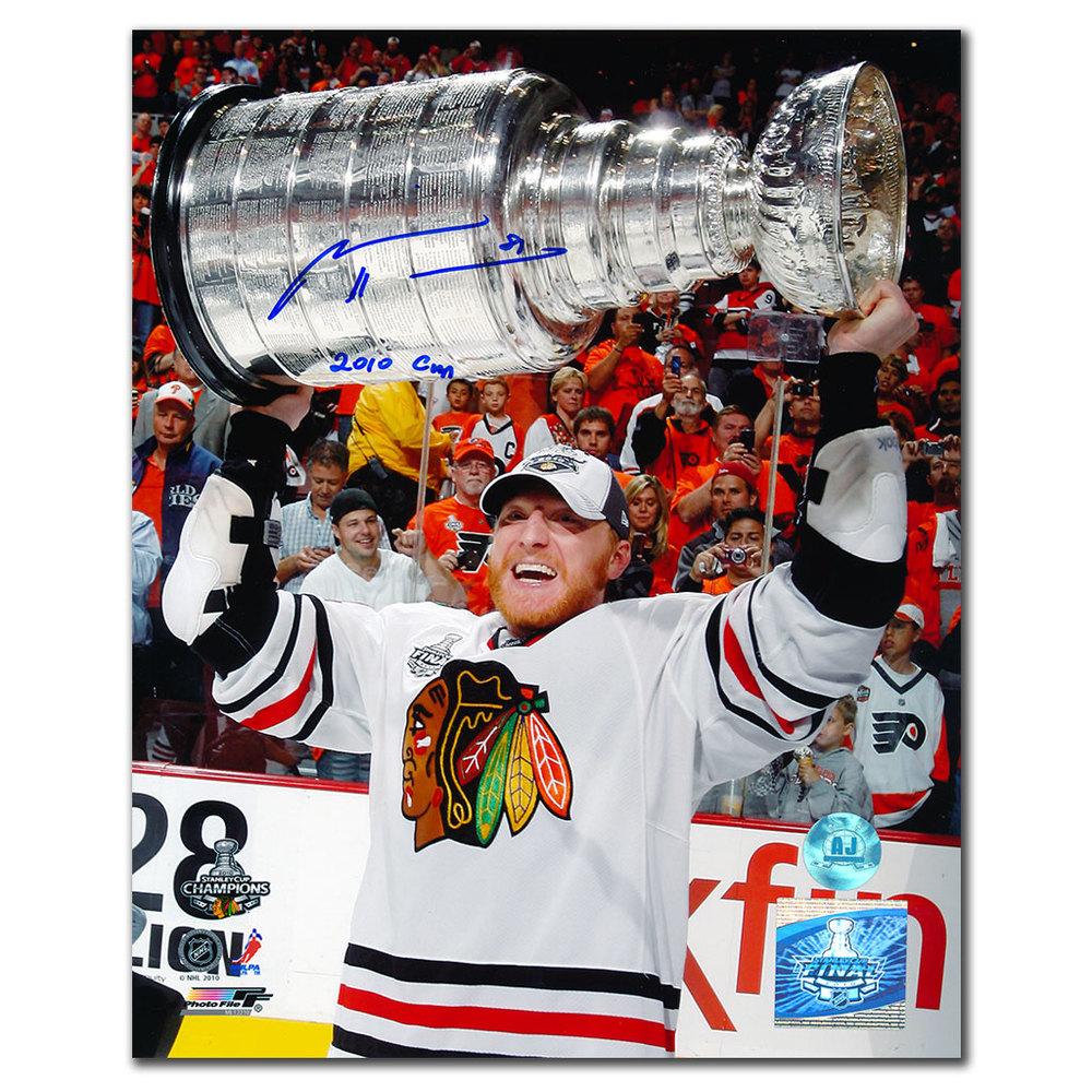 Marian Hossa Chicago Blackhawks 2012 Stanley Cup Autographed 8x10