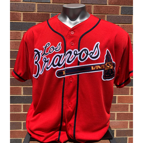 Photo of Tyler Flowers MLB Authenticated and Autographed Los Bravos Jersey