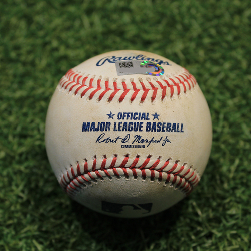 Photo of Game-Used Baseball: Miguel Cabrera 2,903th Career Hit & Eric Haase 5th Career Double (DET@KC 6/14/21)