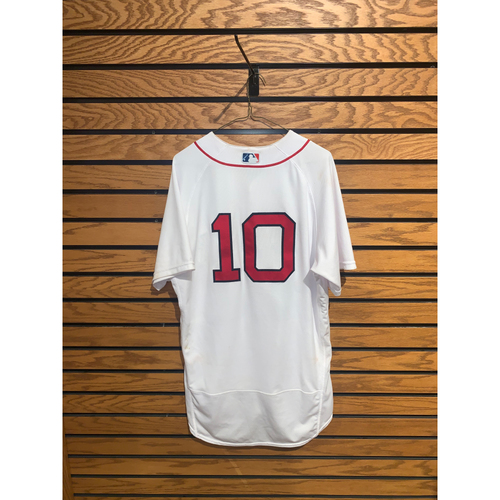 Photo of Hunter Renfroe August 11, 2021 Game Used Home Jersey - 3 for 5, 4 RBIs