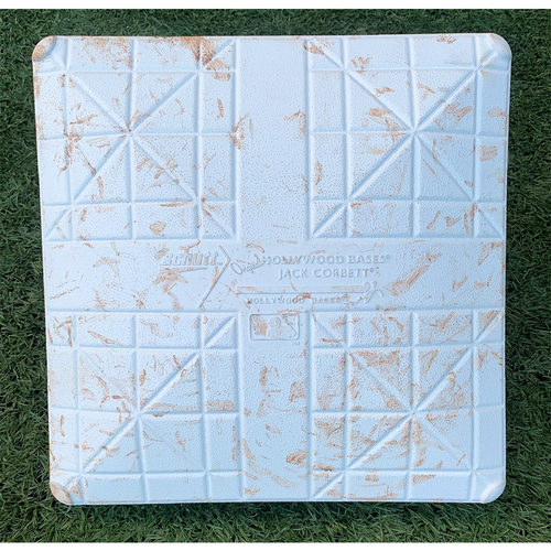 Photo of Game Used Base with 9/11 Remembrance Jewel - 3rd Base, Innings 7-9 - Aaron Judge Home Run - Mets vs. Yankees - 9/11/21