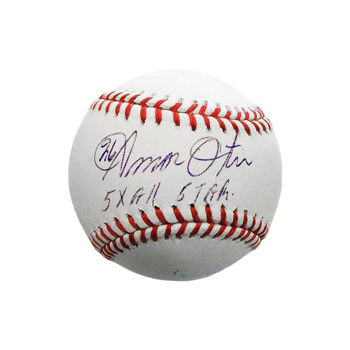 Photo of Amos Otis Autographed Baseball (5x All Star)