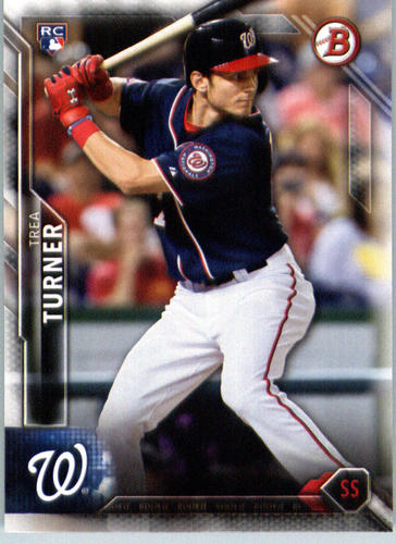Photo of 2016 Bowman #130 Trea Turner Rookie Card -- Nationals post-season