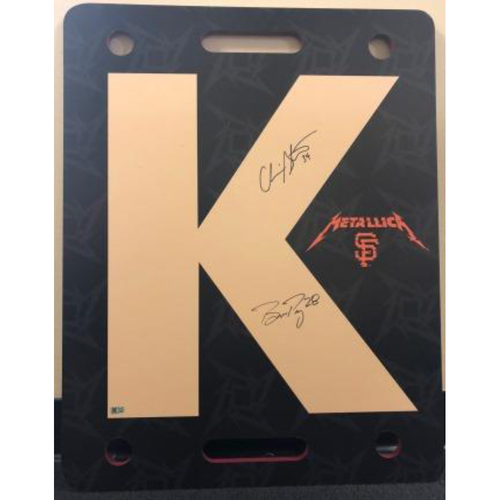 "Photo of Giants Metallica Auction: Stratton & Posey Signed Game-Used Metallica ""K"" Board"