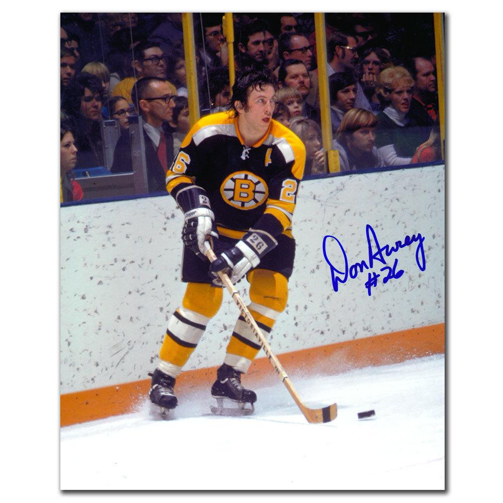 Don Awrey Boston Bruins Autographed 8x10