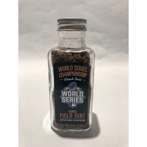 Photo of 2015 World Series Game 5: Royals Clinch Game-Used Dirt Jar