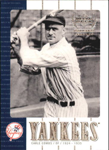 Photo of 2000 Upper Deck Yankees Legends #19 Earle Combs Hall of Fame Class of 1970