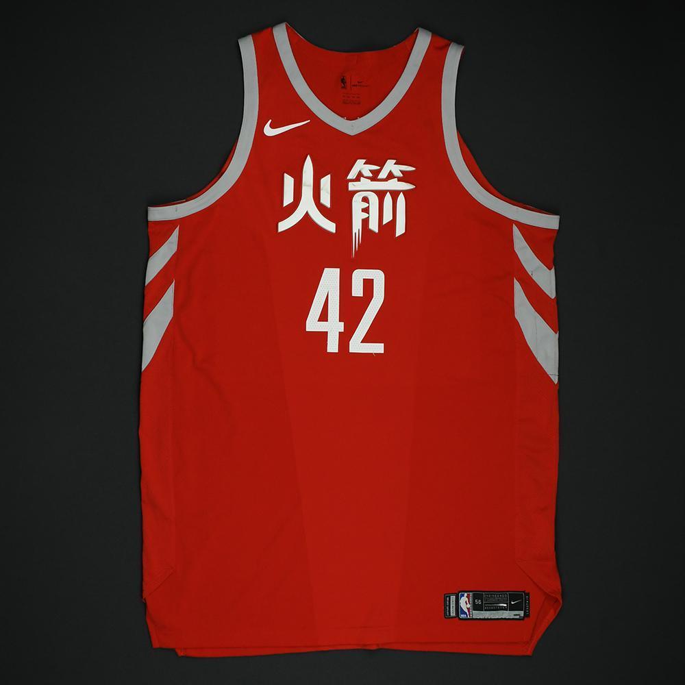 Nene - Houston Rockets - Game-Worn 'City' Chinese New Year Jersey -2017-18 Season