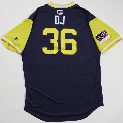"Photo of Derek ""DJ"" Johnson Milwaukee Brewers Team Issued Jersey 2018 Players' Weekend Jersey"