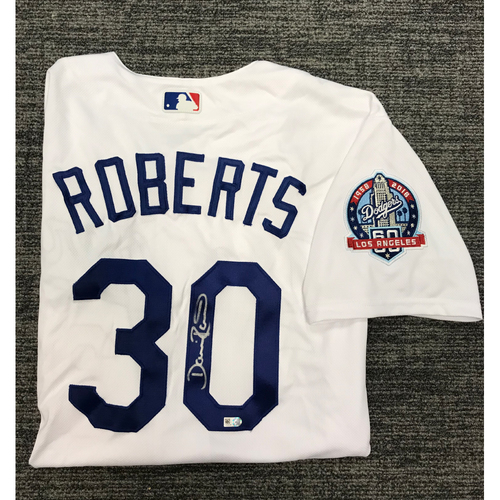 Photo of Los Angeles Dodgers Foundation Online Auction: Dave Roberts Authentic Autographed Los Angeles Dodgers Jersey