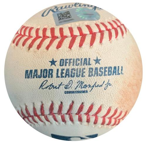 Photo of Game-Used Baseball from Pirates vs. Giants on 6/23/16 - Josh Harrison RBI Triple