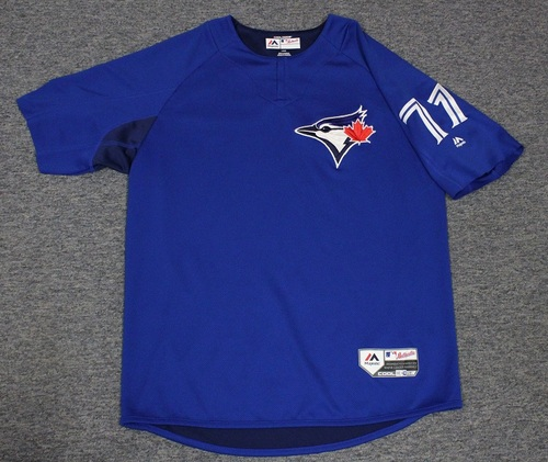 Photo of Authenticated Team Issued Batting Practice Jersey - #71 Luis Santos. Size L. Part of Sleeves cut off.