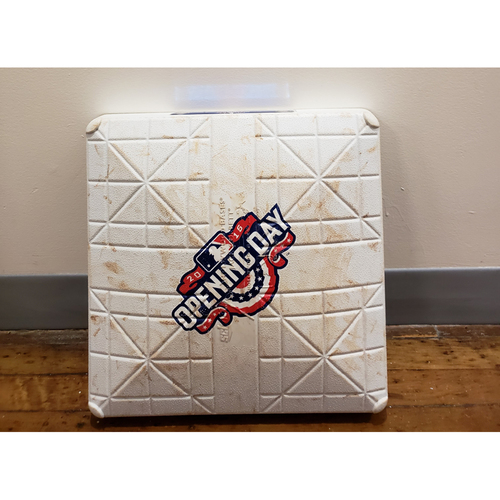 Photo of Game-Used Opening Day Base: Chicago White Sox at Minnesota Twins - 2nd Base Used in Innings 7-9 - 4/11/16
