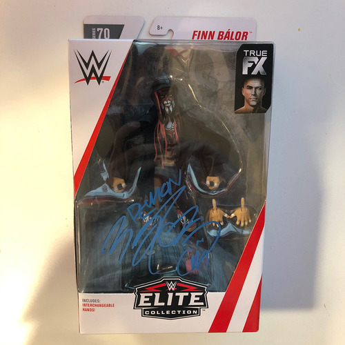 Photo of Finn Bálor SIGNED Elite Series 70 Action Figure