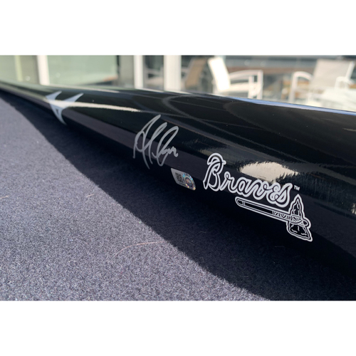 Photo of Ozzie Albies  Autographed Bat