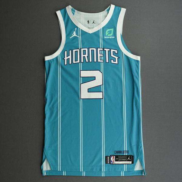 Image of LaMelo Ball - Charlotte Hornets - Game-Worn Icon Edition Jersey - First NBA Points Scored