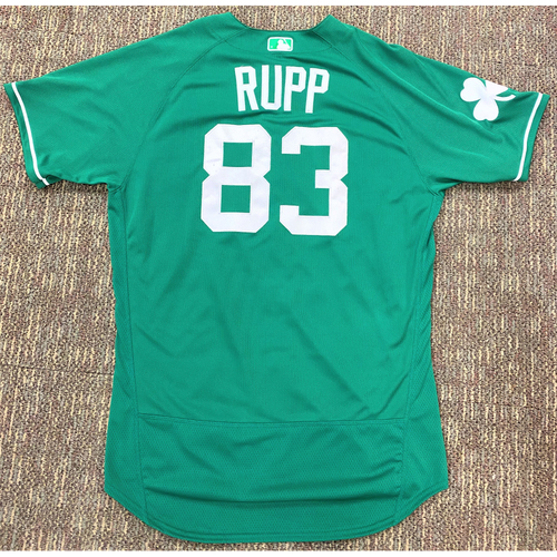 Cameron Rupp #83 Detroit Tigers Game-Used St. 2019 St. Patrick's Day Jersey (MLB AUTHENTICATED)