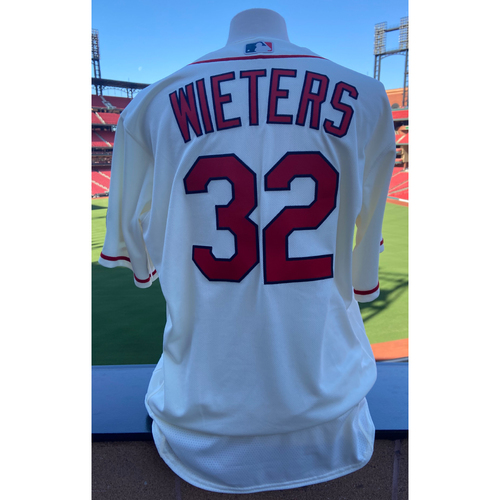 Photo of Cardinals Authentics: Team Issued Matt Wieters Home Alternate Ivory Jersey