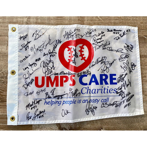 Photo of UMPS CARE AUCTION: Staff Signed UMPS CARE Tee Flag