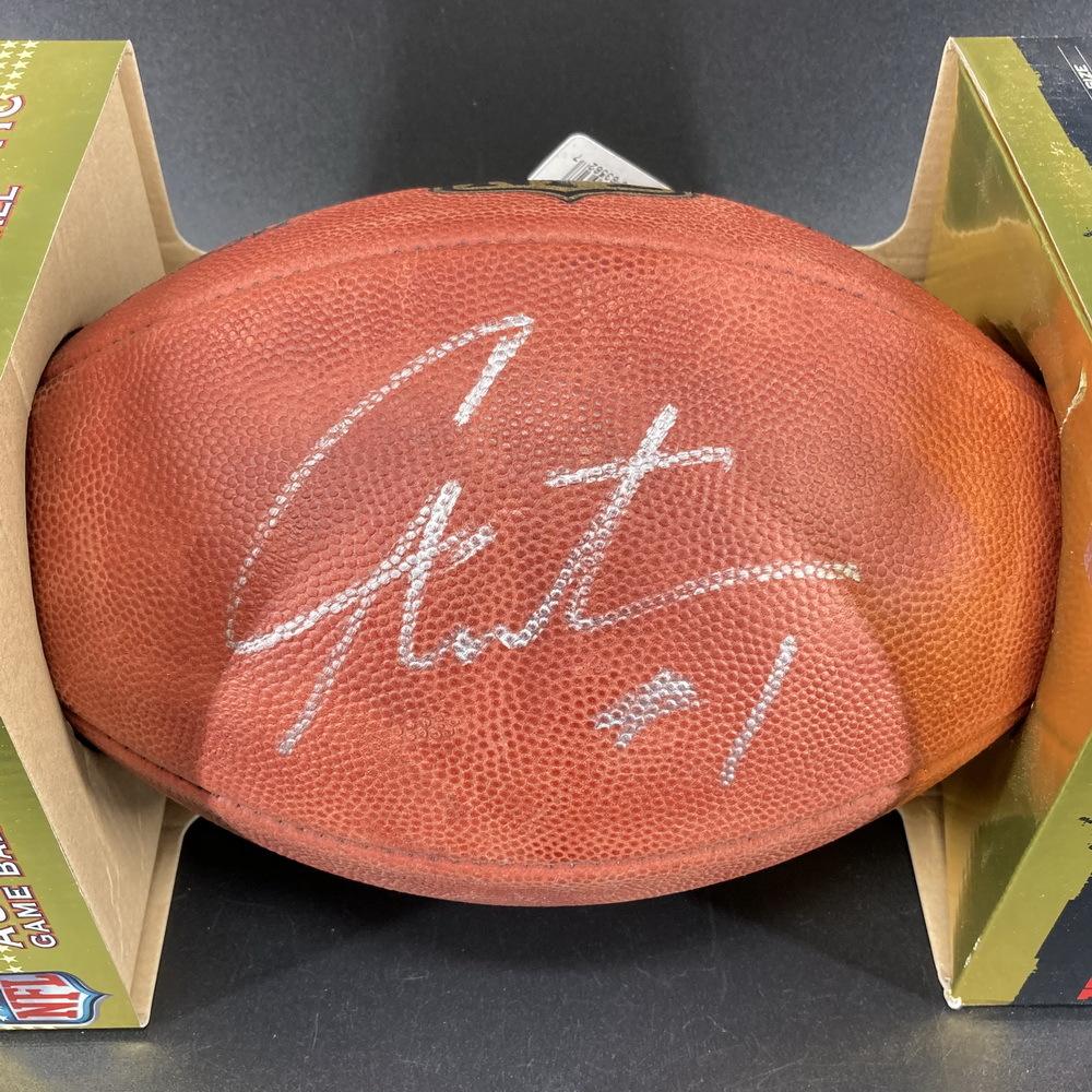 Legends - Patriots Cam Newton Signed Authentic Football