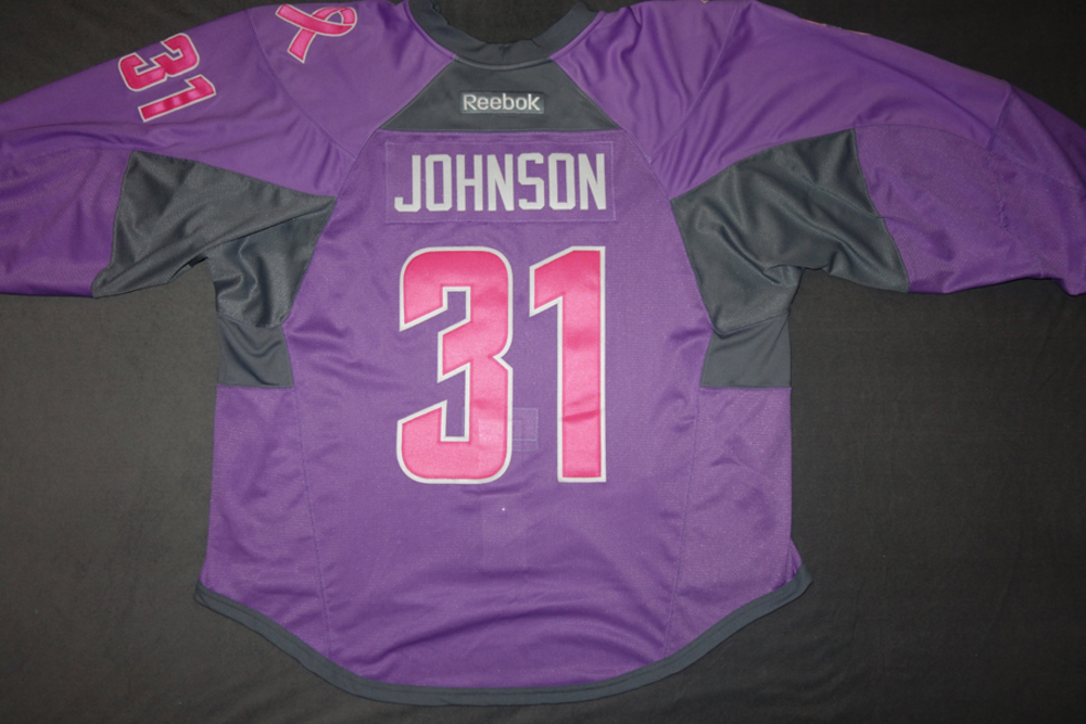 f5c8e3b9c Chad Johnson Buffalo Sabres Pre-Game Worn Hockey Fights Cancer Jersey