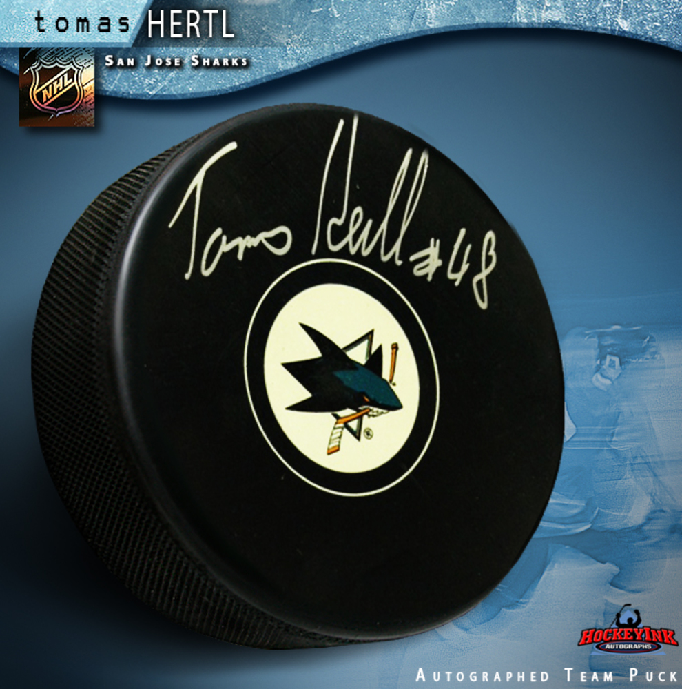 TOMAS HERTL Signed San Jose Sharks Puck