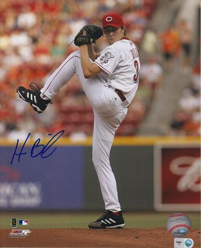 Photo of Homer Bailey Autographed 8x10